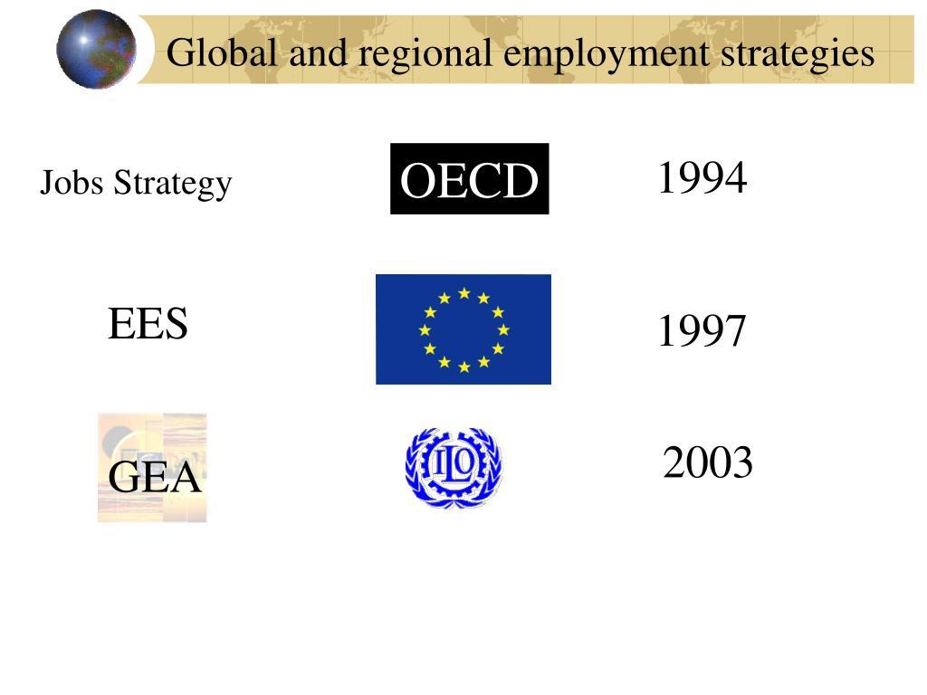 Global and regional employment strategies