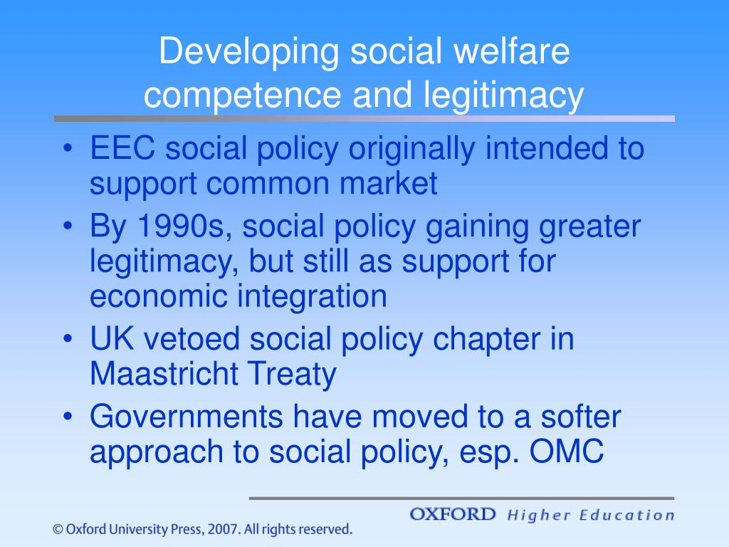 Developing social welfare competence and legitimacy