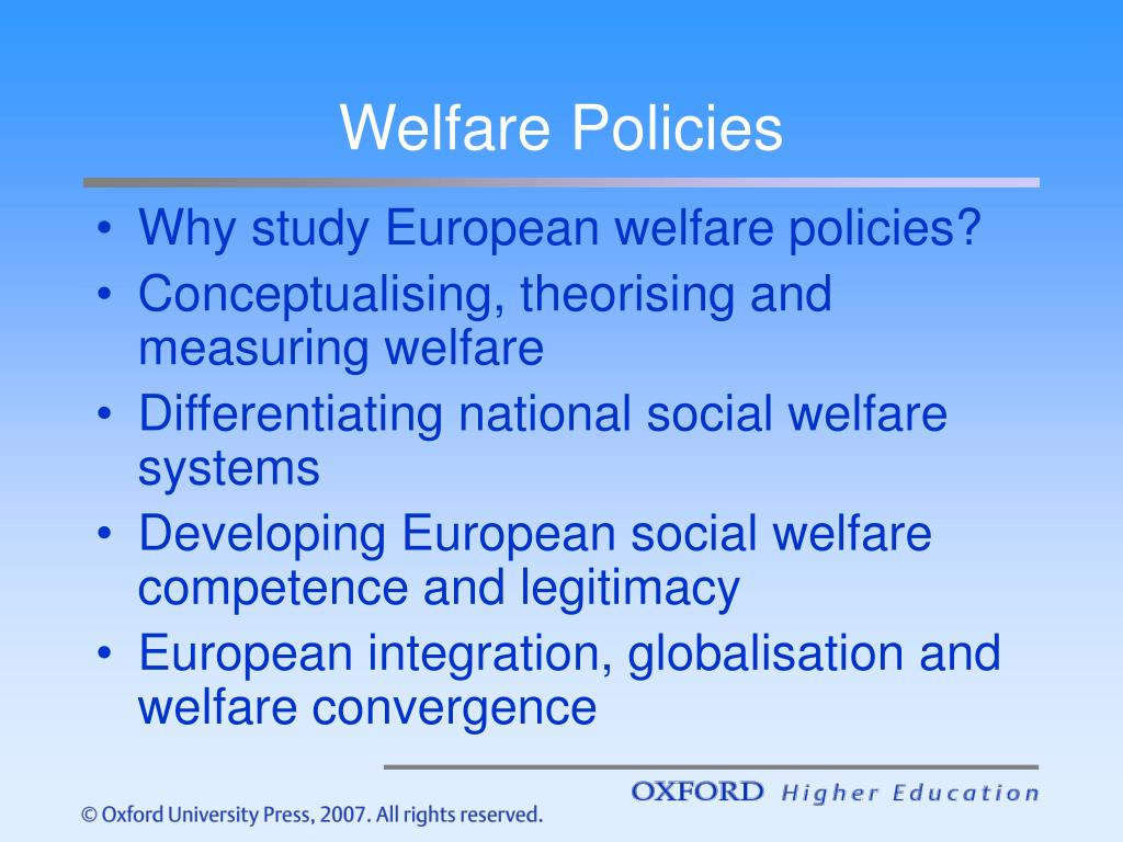Welfare Policies
