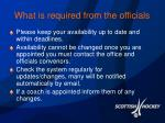 what is required from the officials