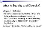 what is equality and diversity