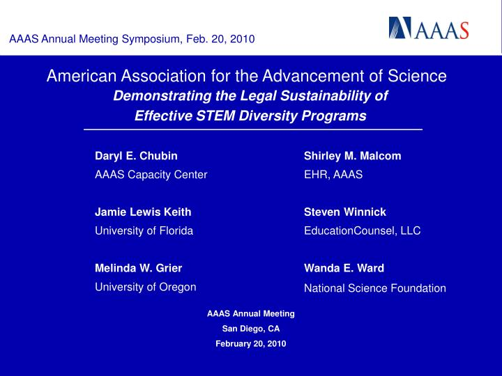 American association for the advancement of science l.jpg