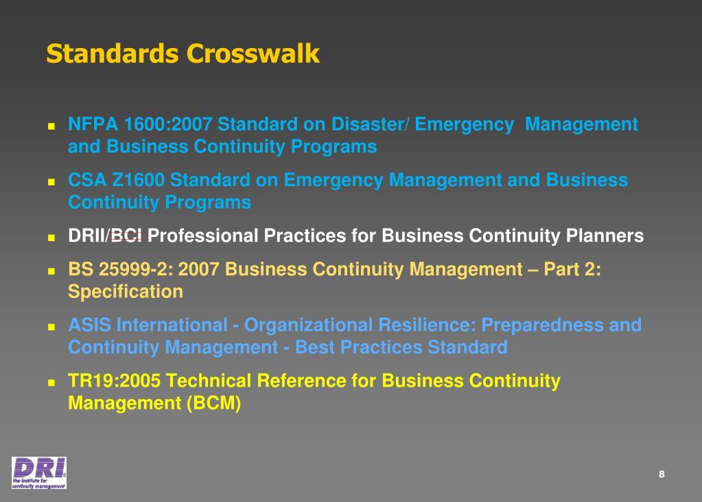 Standards Crosswalk