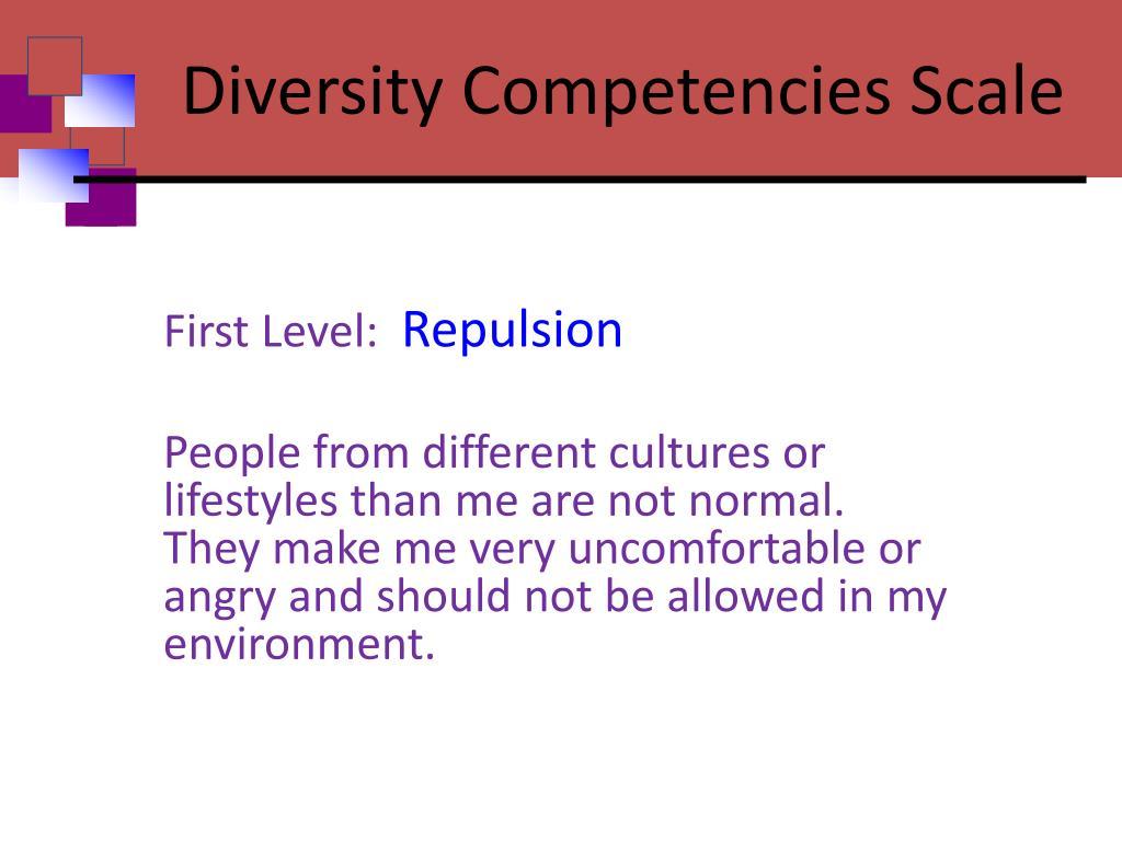 Diversity Competencies Scale