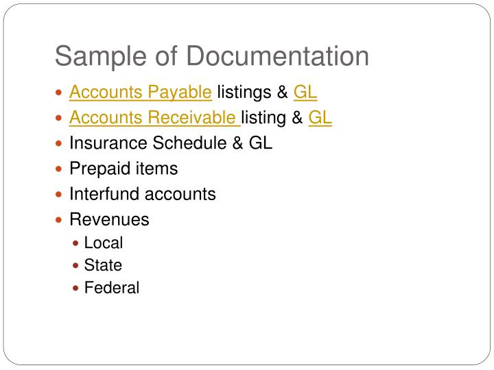Sample of Documentation