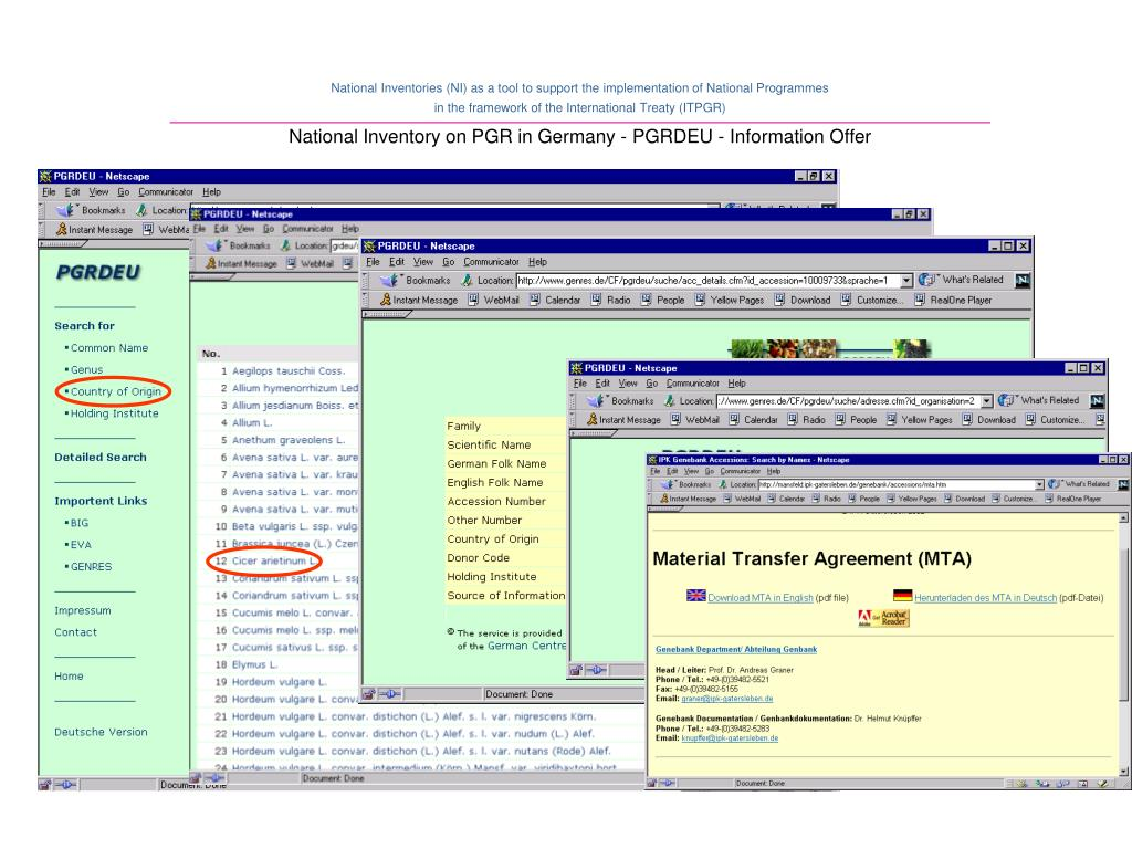 National Inventory on PGR in Germany - PGRDEU - Information Offer