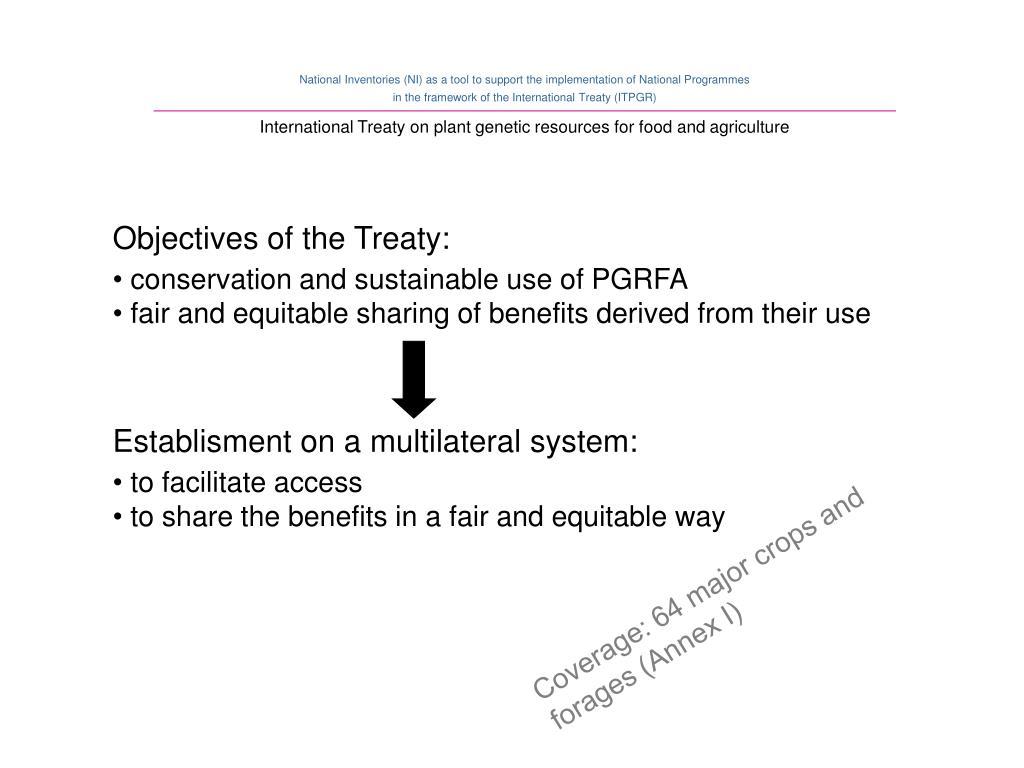 Establisment on a multilateral system: