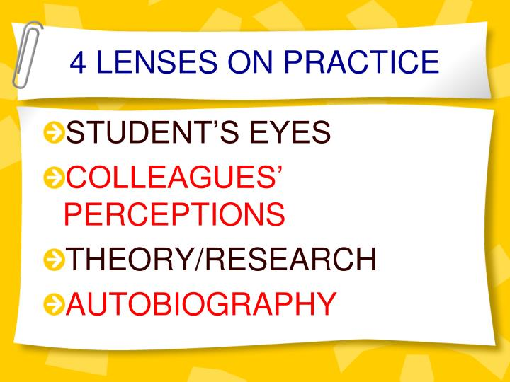 4 LENSES ON PRACTICE
