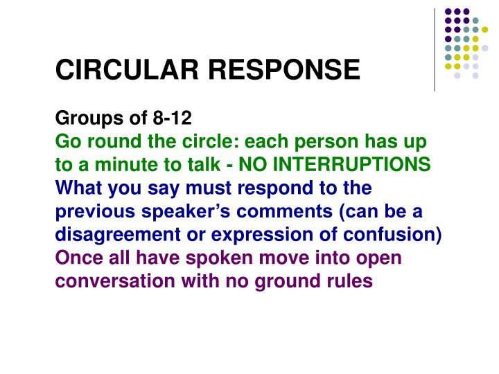 CIRCULAR RESPONSE