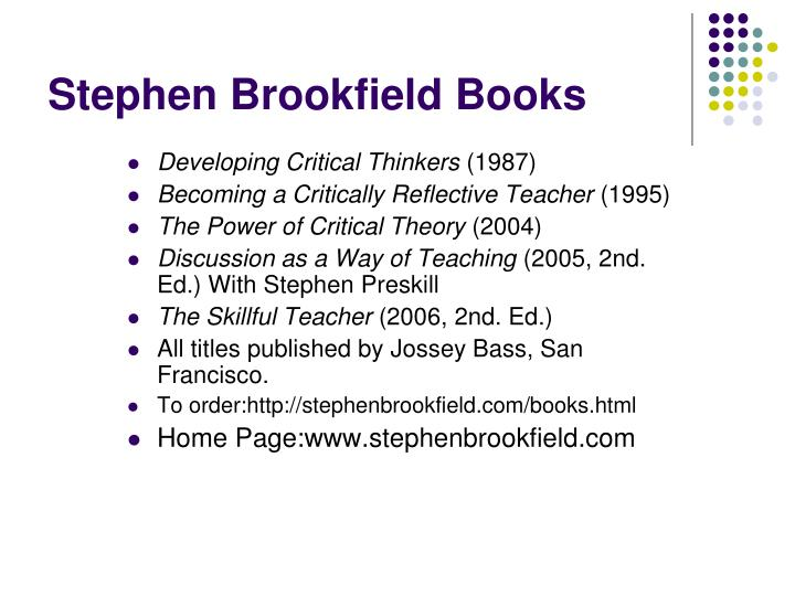 Stephen Brookfield Books