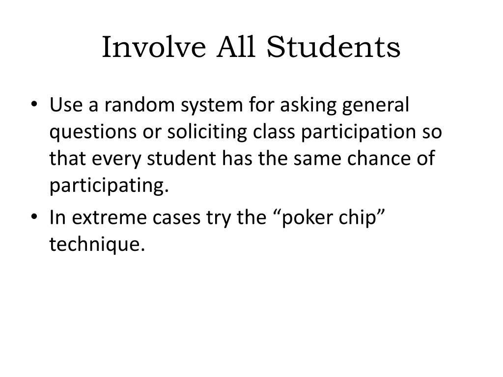 Involve All Students
