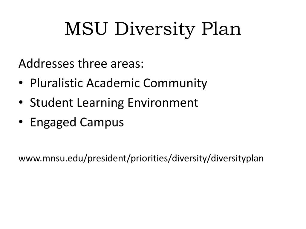 MSU Diversity Plan