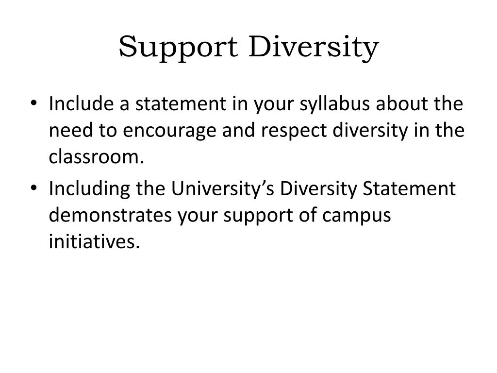 Support Diversity