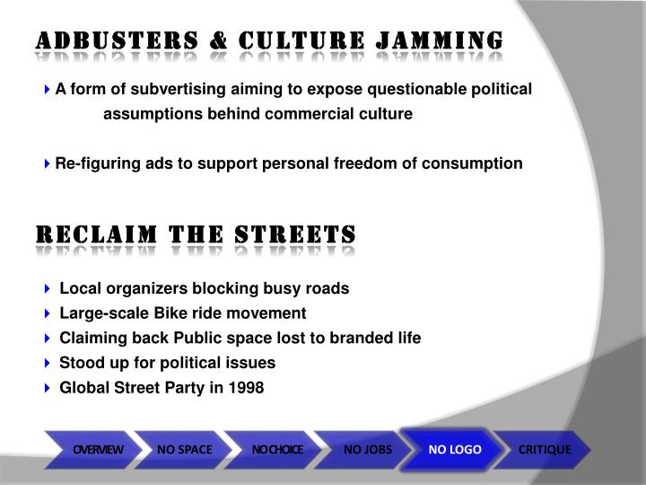 ADBUSTERS & CULTURE JAMMING
