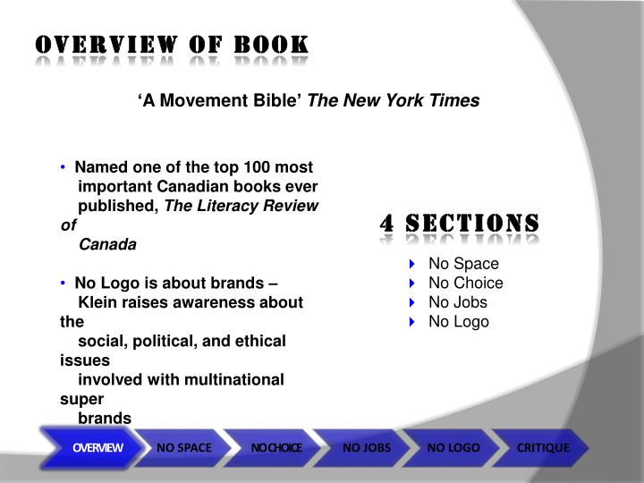 OVERVIEW OF BOOK