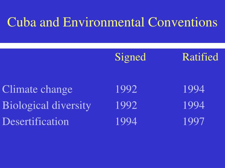 Cuba and environmental conventions