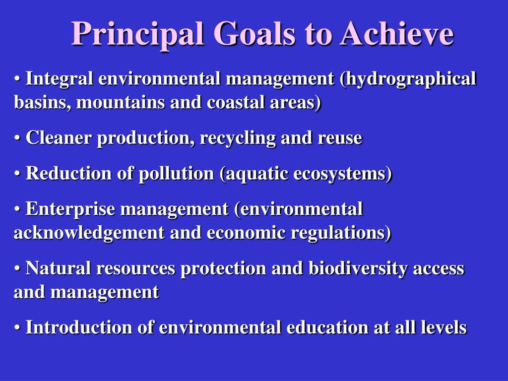 Principal Goals to Achieve