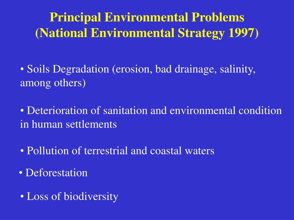 Principal Environmental Problems