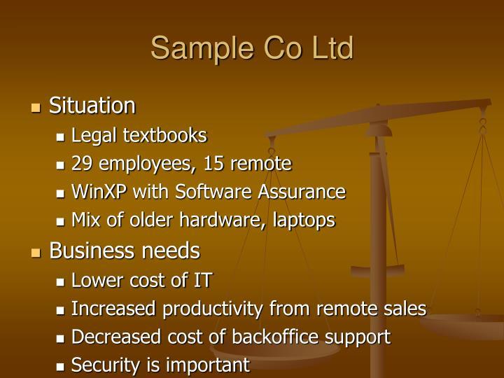 Sample Co Ltd
