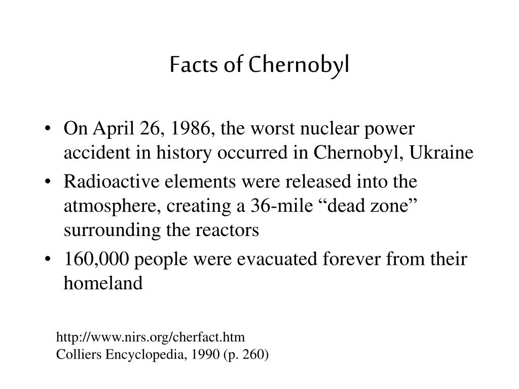 Facts of Chernobyl