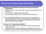 importance of family school relationship