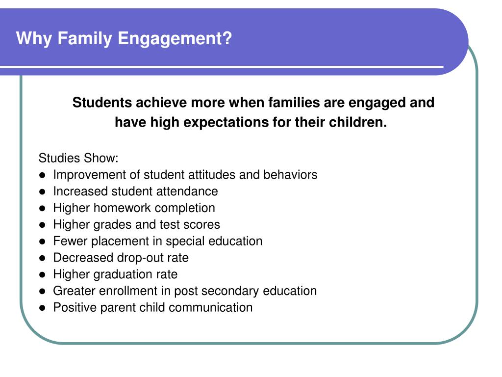 Why Family Engagement?