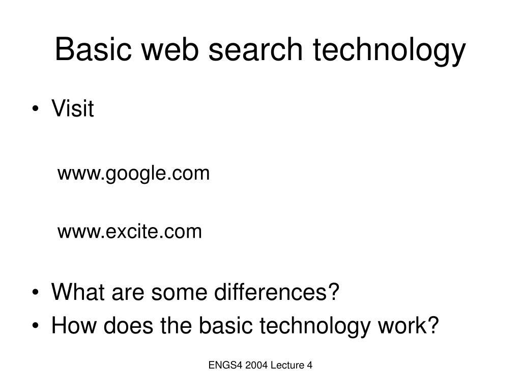 Basic web search technology