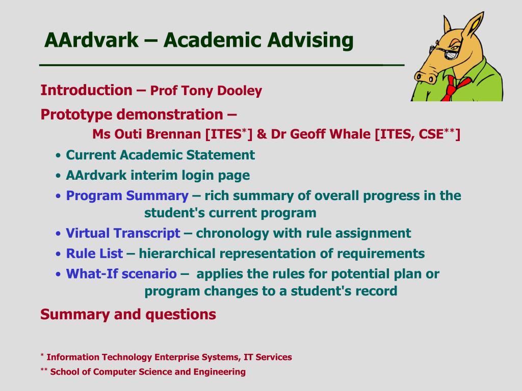 AArdvark – Academic Advising