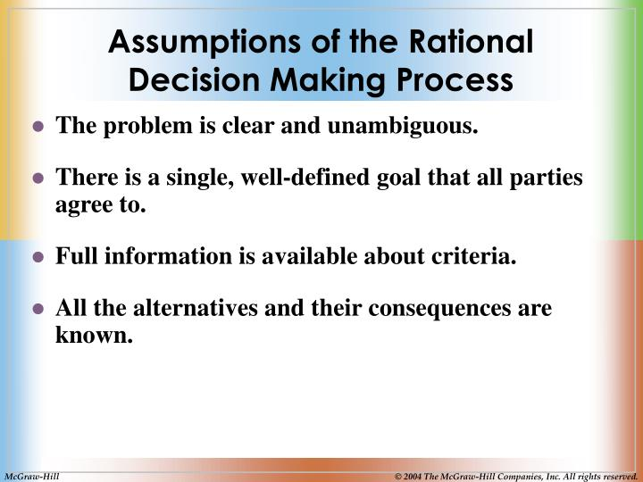 Assumptions of the Rational