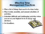 effective time management practices