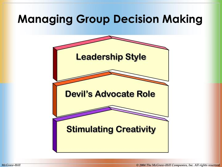 Managing Group Decision Making