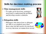 skills for decision making process