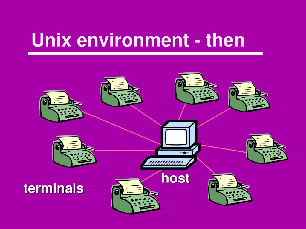 Unix environment - then