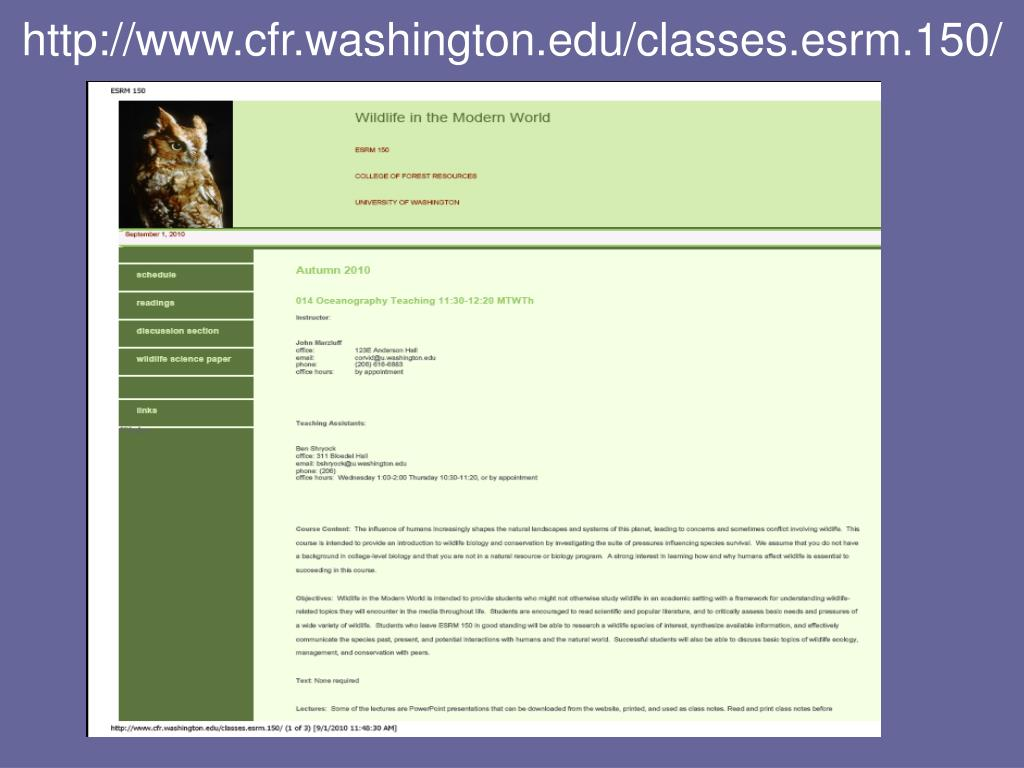 http://www.cfr.washington.edu/classes.esrm.150/