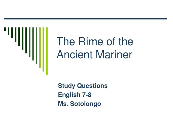 rime of the ancient mariner analysis essay