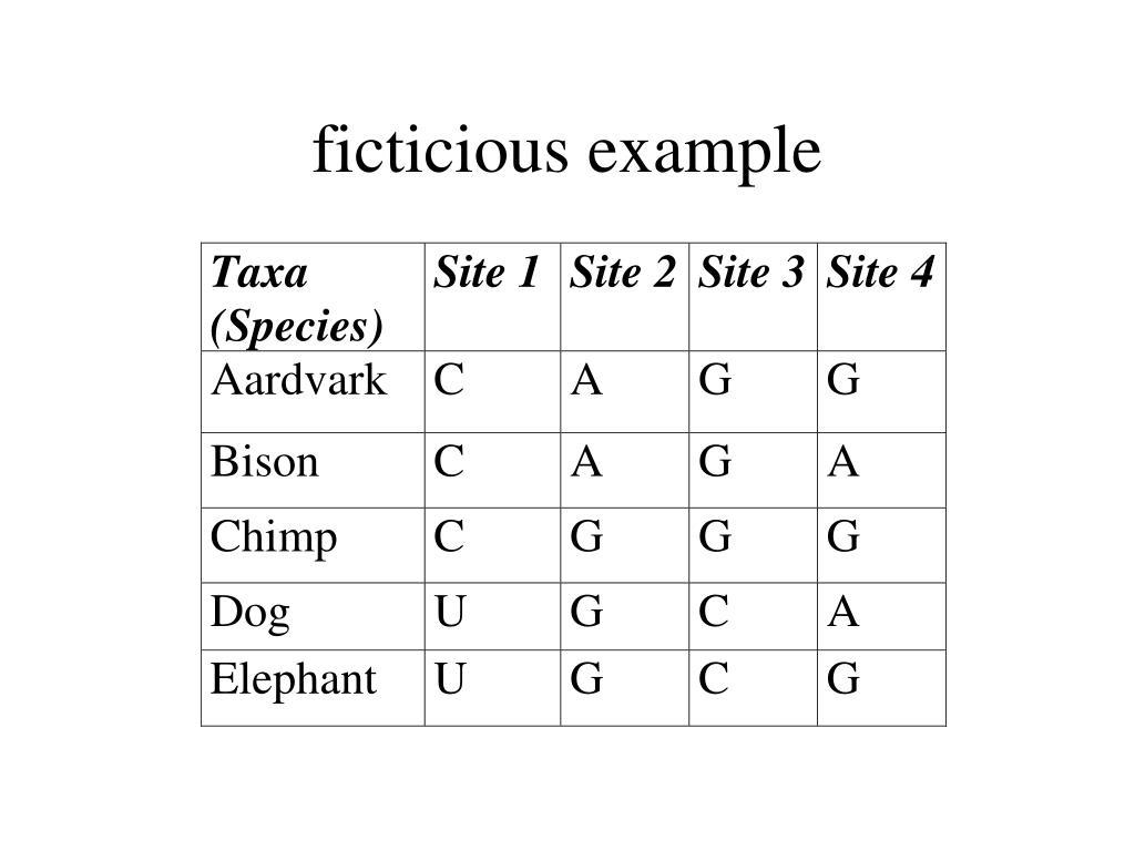 ficticious example