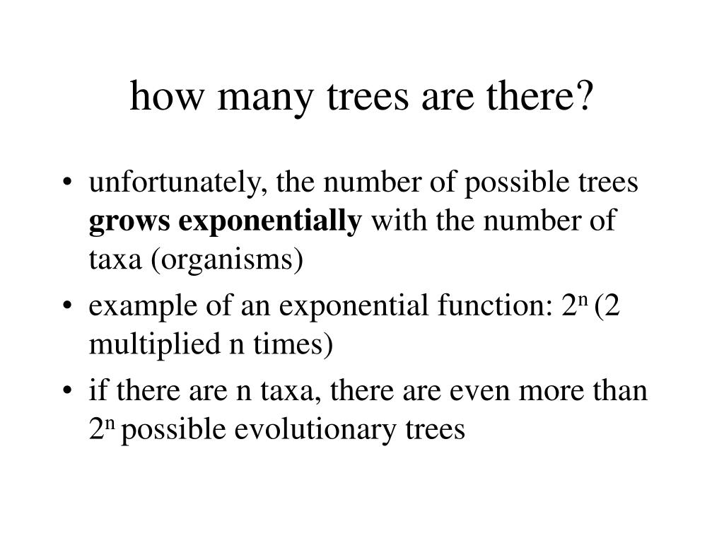 how many trees are there?