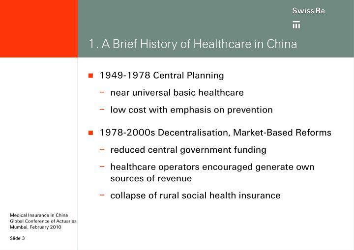 1. A Brief History of Healthcare in China
