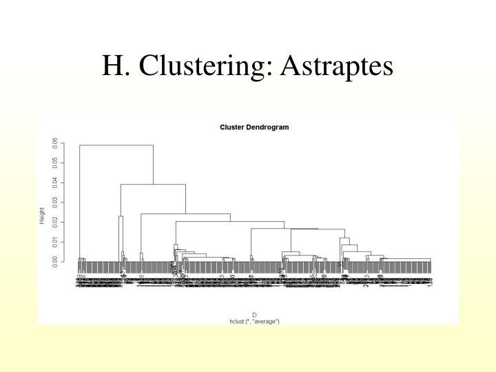 H. Clustering: Astraptes