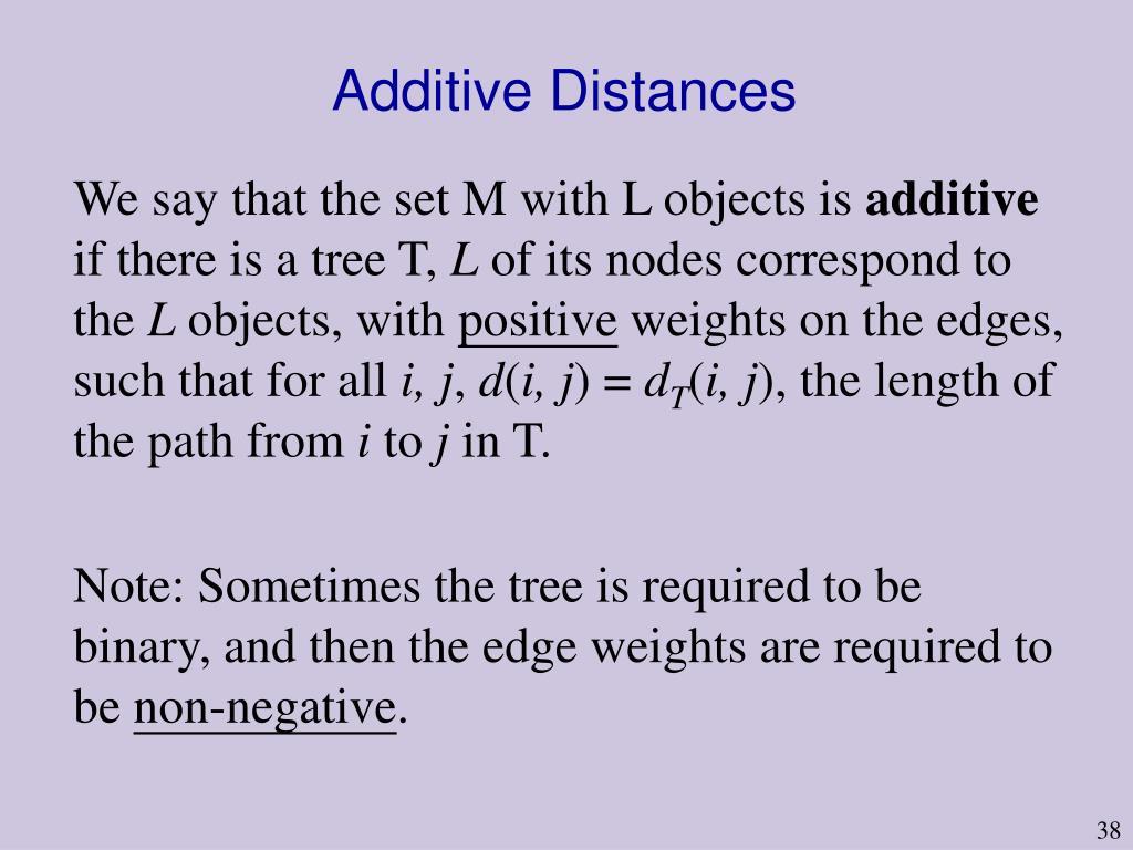 Additive Distances