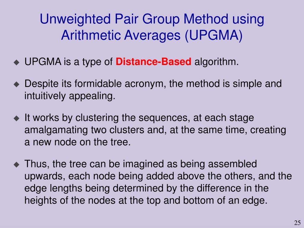 Unweighted Pair Group Method using