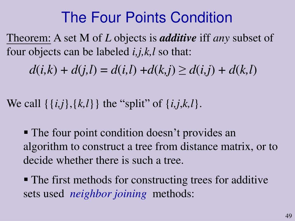 The Four Points Condition
