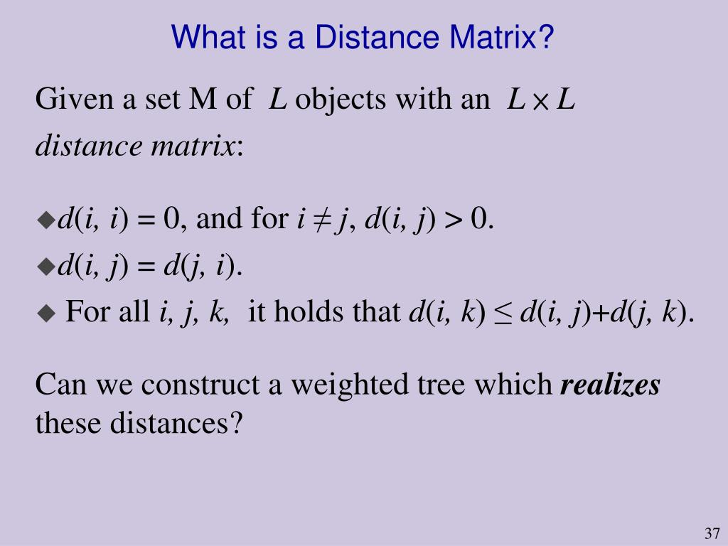 What is a Distance Matrix?
