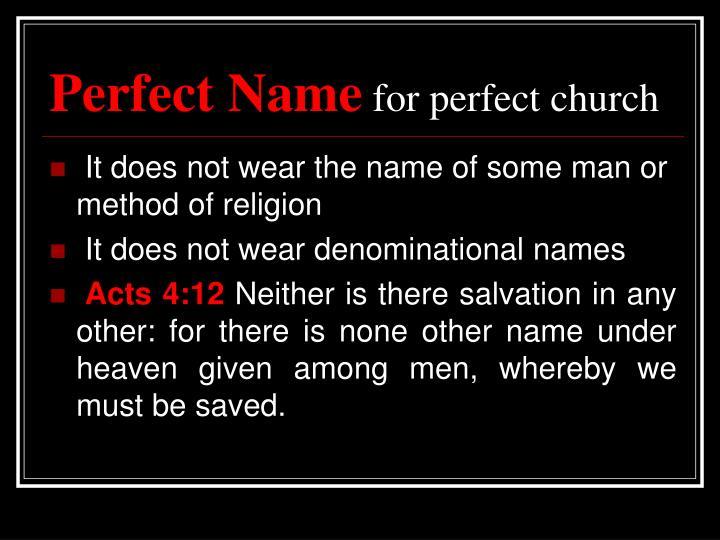 Perfect Name