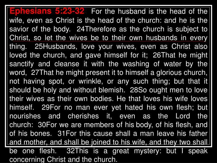 Ephesians 5:23-32