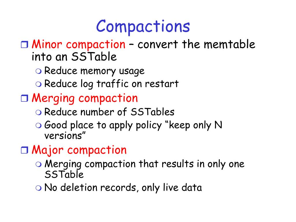 Compactions