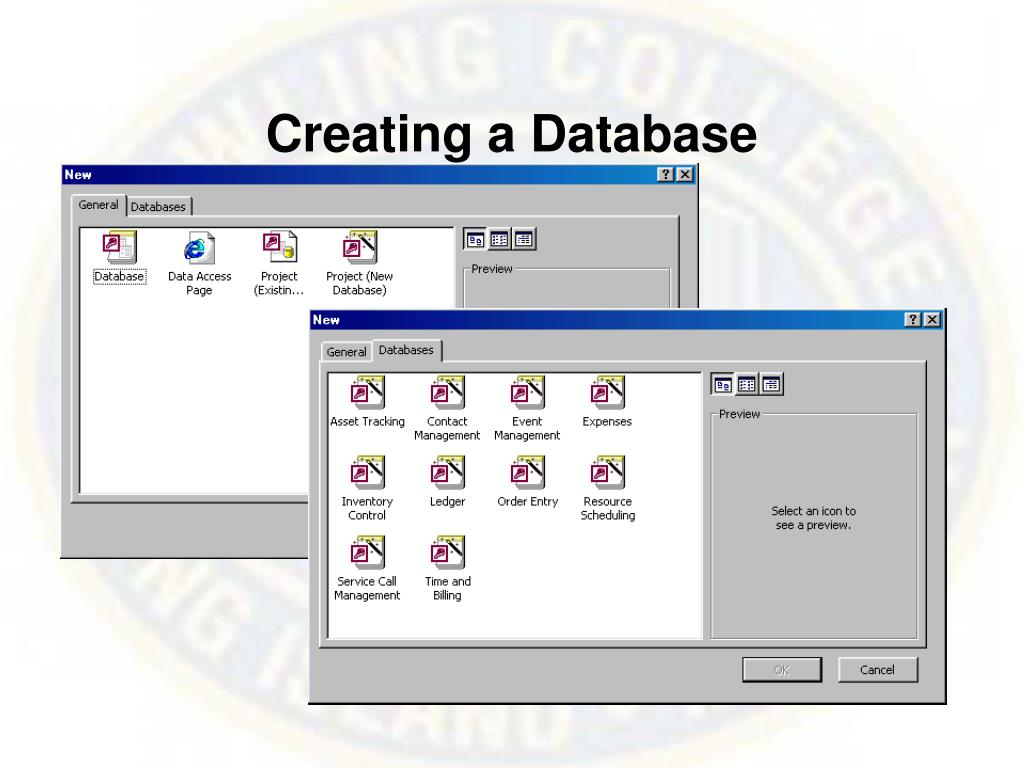 Creating a Database