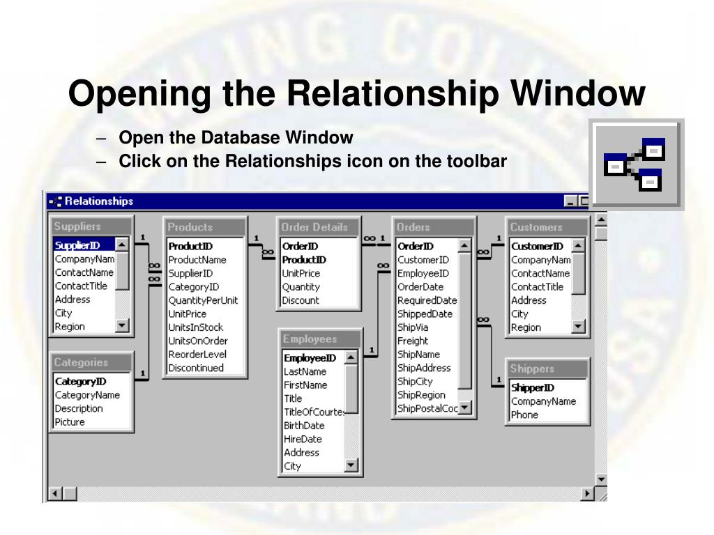 Opening the Relationship Window