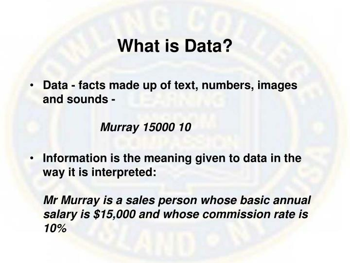 What is data l.jpg