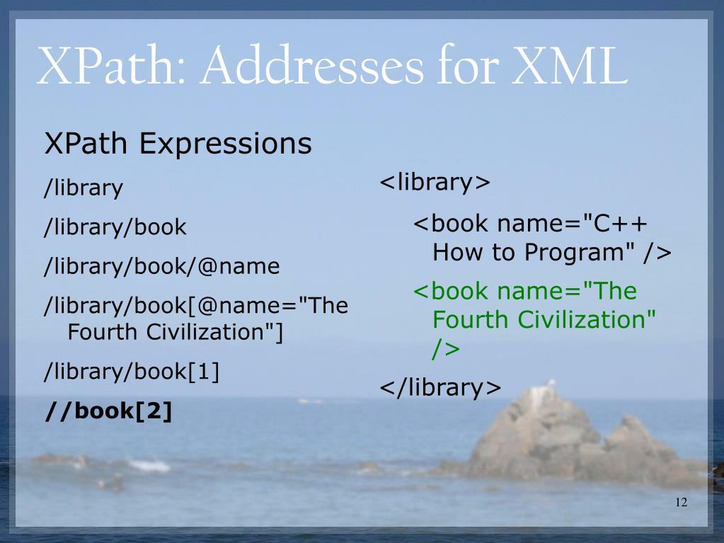 XPath: Addresses for XML